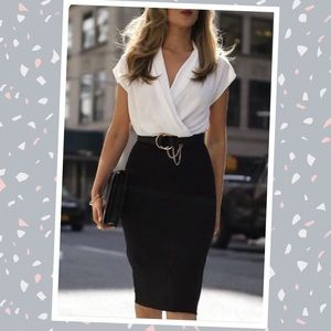 JCPENNEY▪️Black Bodycon Straight Pencil Skirt